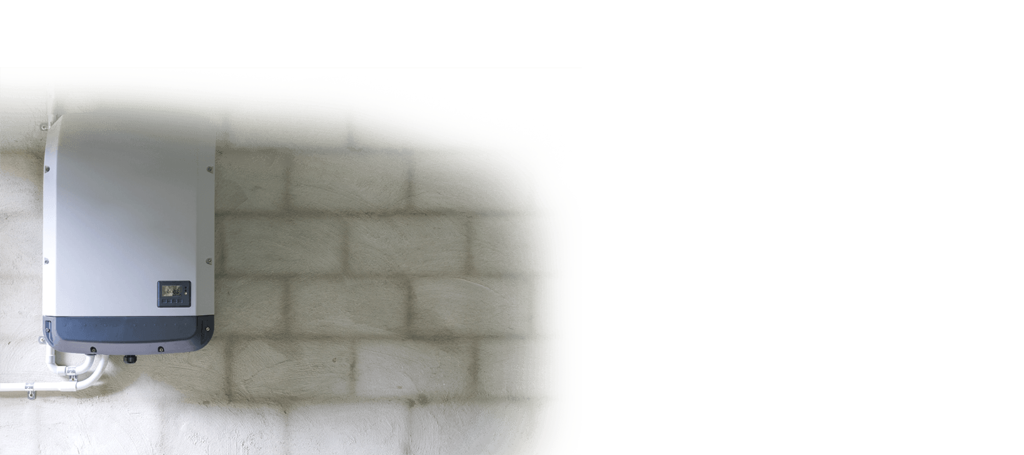 Wechselrichter an der Wand